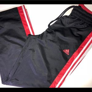 Adidas Track pants Size L Red / Black Straight